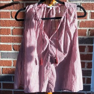 MADEWELL Gingham sleeveless top Size XS